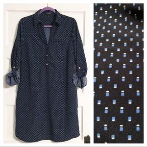 The Limited Navy Print Shirt Dress - Sz M